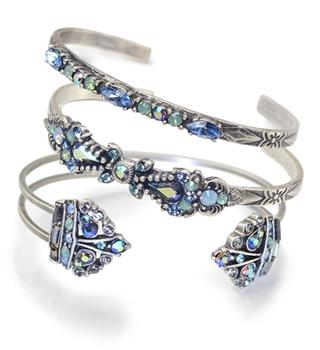 Set of 3 Crystal Bar Cuff Bracelets BR448-521-525 - Sweet Romance Wholesale