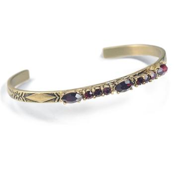Crystal Bar Thin Cuff Stacking Bracelet BR448 - Sweet Romance Wholesale