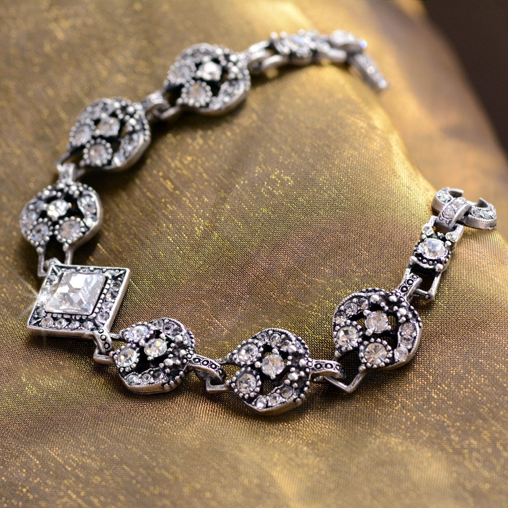 Art Deco Diamond Harlequin Wedding Bracelet BR451 - Sweet Romance Wholesale