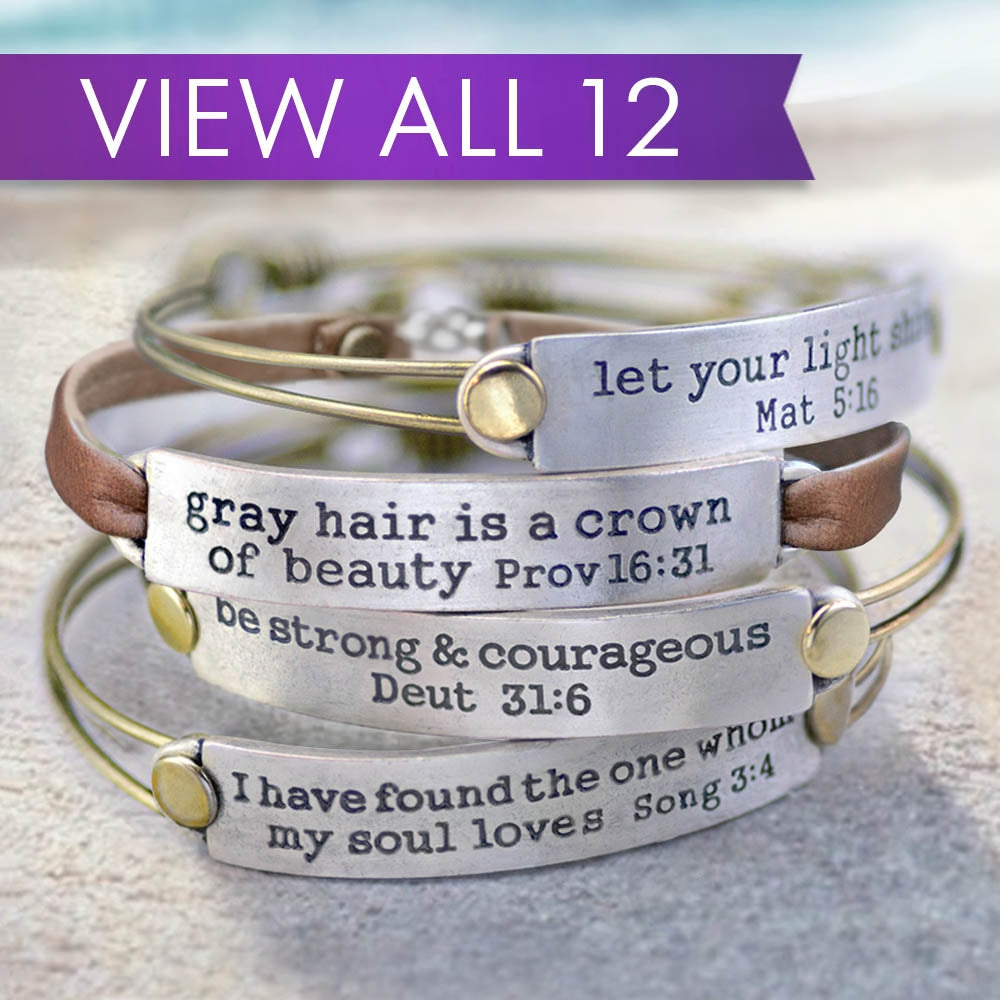 Inspirational Bible Verse Bracelets - Sweet Romance Wholesale