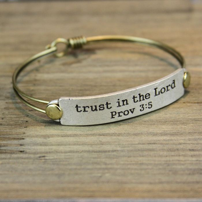 Trust in the Lord Prov 3:5 Inspirational Bible Verse Bracelet - Sweet Romance Wholesale
