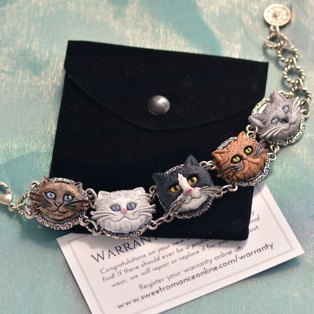 Cat Lovers Bracelet BR575 - Sweet Romance Wholesale