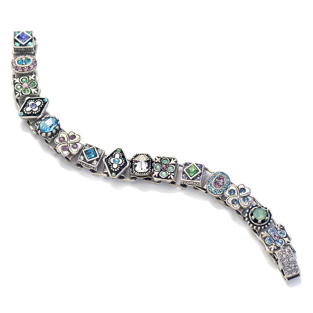 Etheria Silver Statement Bracelet BR578 - Sweet Romance Wholesale