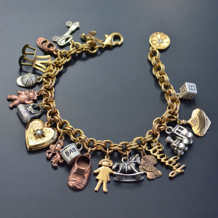 Baby Mother Charm Bracelet BR680 - Sweet Romance Wholesale
