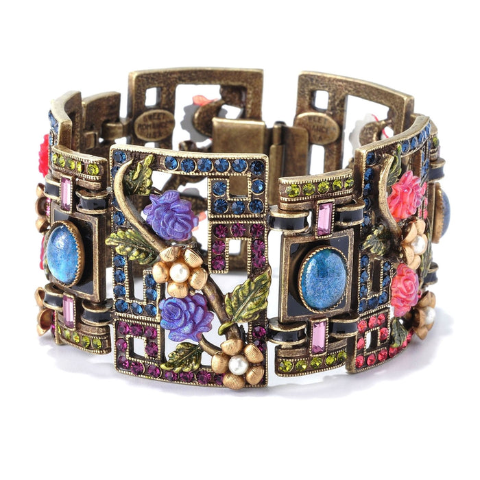 Art Deco Chinese Rose Screen Vintage Bracelet BR999 - Sweet Romance Wholesale