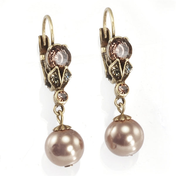 Classic Vintage Pearl Earrings E1007 - Sweet Romance Wholesale