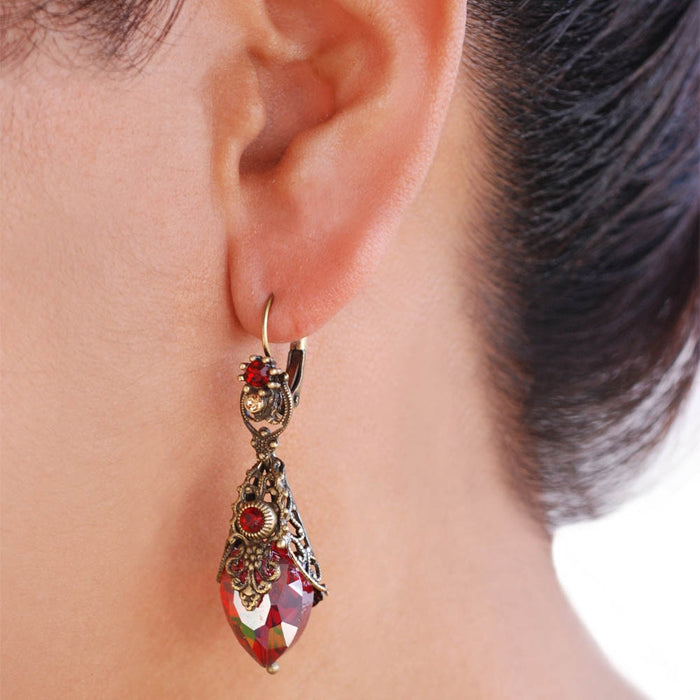Crystal Prism Earrings E1028 - Sweet Romance Wholesale
