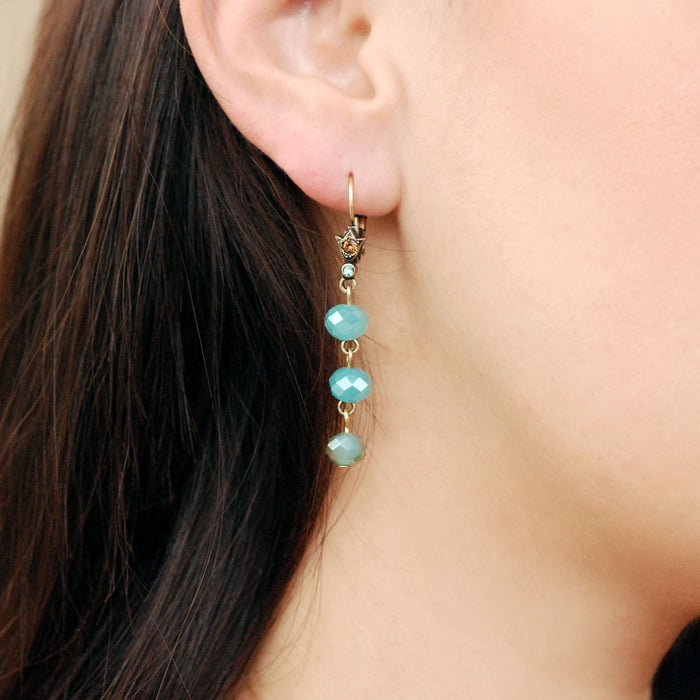 Triple Bead Dangle Earrings - Sweet Romance Wholesale