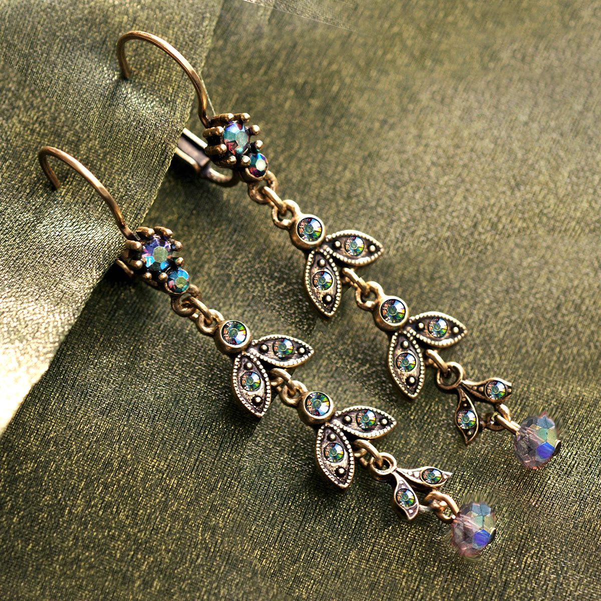 Crystal Flutter Drop Earrings E105 - Sweet Romance Wholesale