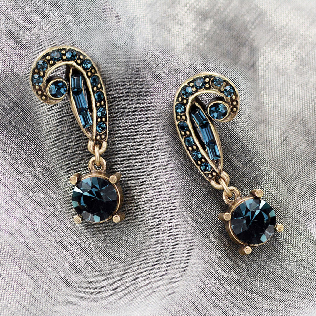Art Deco Vintage Hollywood Crystal Earrings E1102 - Sweet Romance Wholesale
