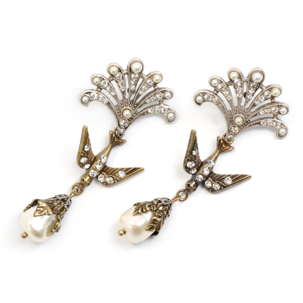Little Swallows of Peace Earrings - Sweet Romance Wholesale