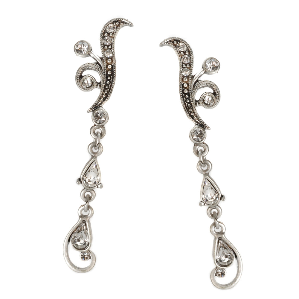 Crystal Wave Earring E1146 - Sweet Romance Wholesale