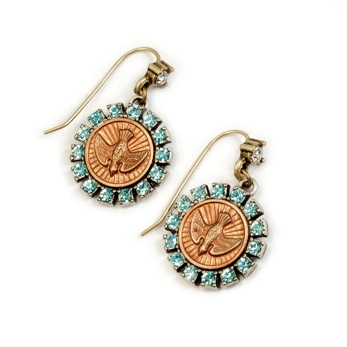 Bird Spirit Coin Earrings