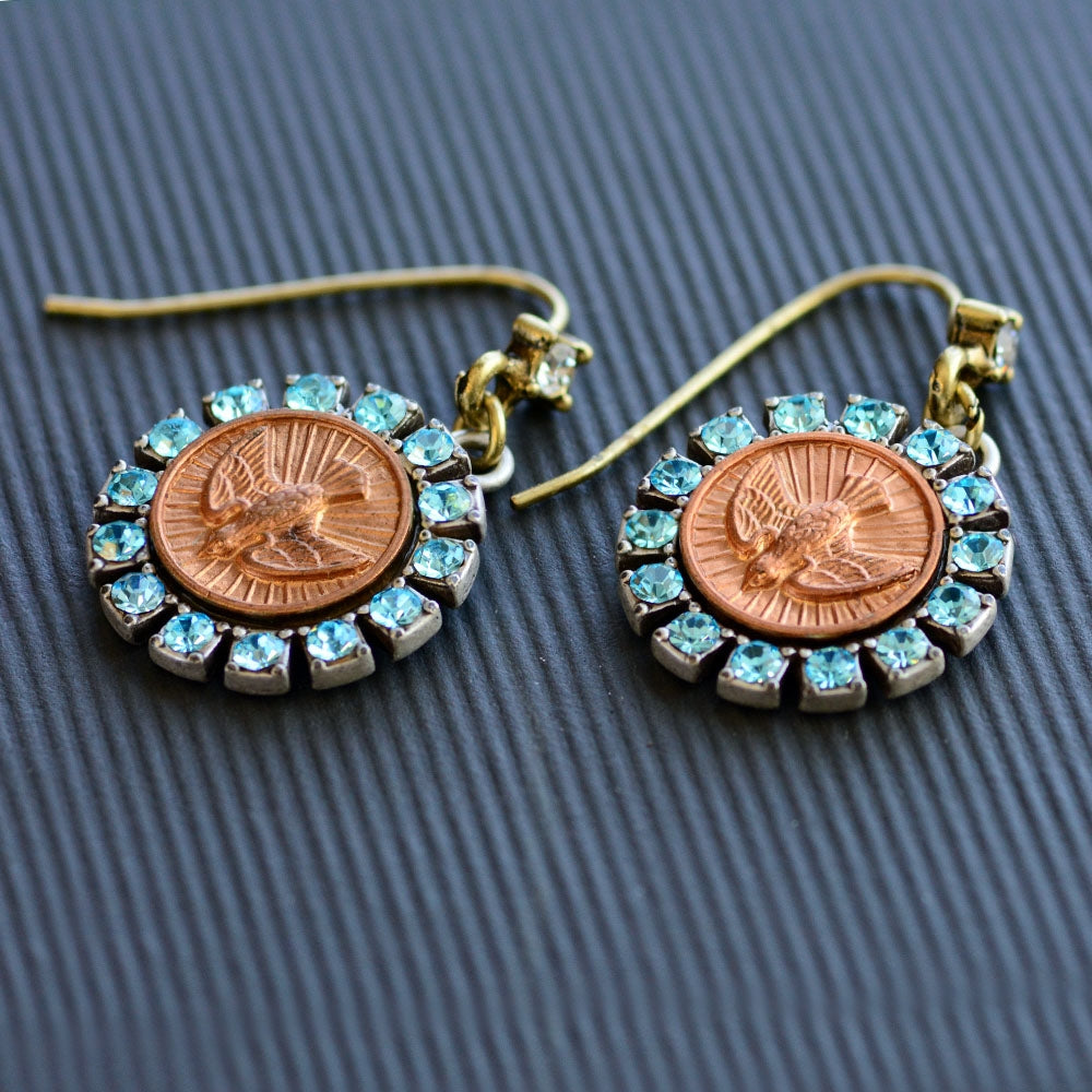 Bird Spirit Coin Earrings E1169 - Sweet Romance Wholesale