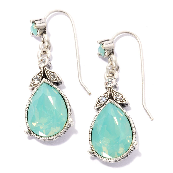 Faceted Crystal Victorian Teardrop Earrings - Sweet Romance Wholesale