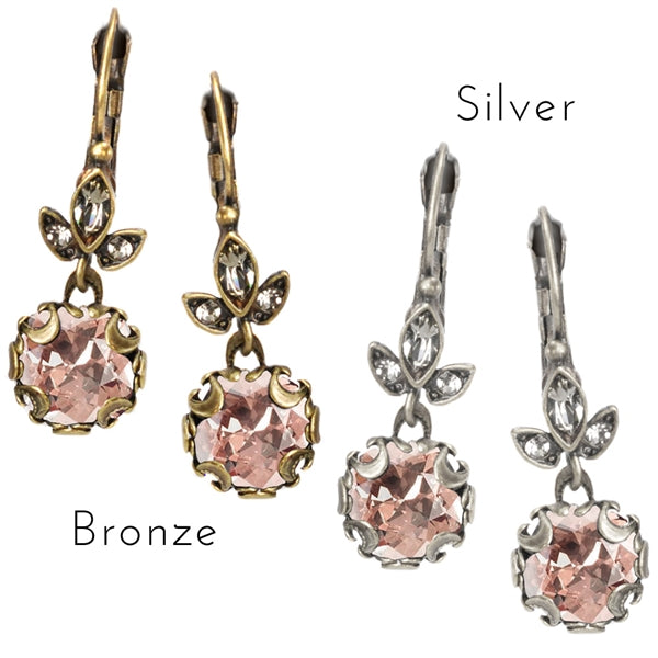 Cushion Cut Jewel Earrings E1182 - Sweet Romance Wholesale