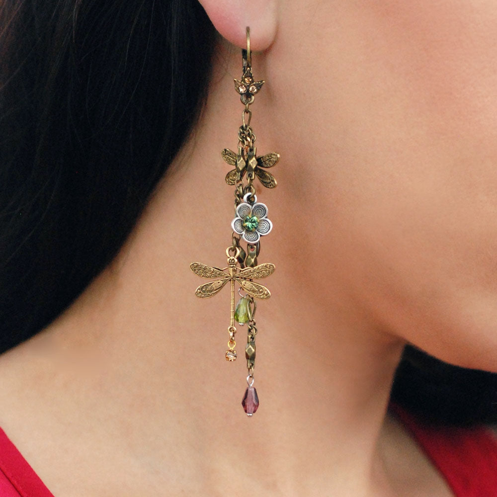 Dragonflies Dangles Earrings E1189 - Sweet Romance Wholesale