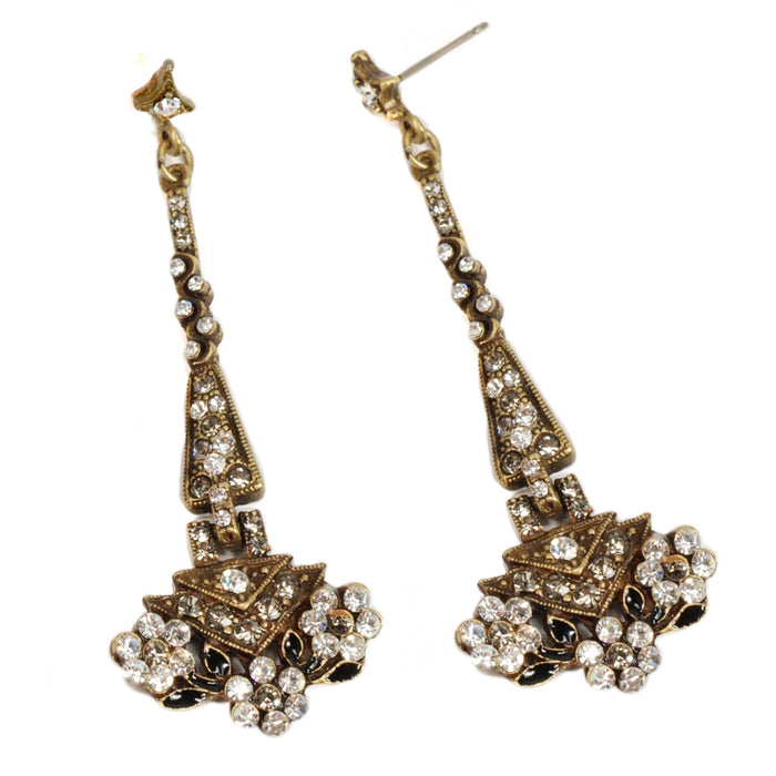 Art Deco Tapering Triangle Gatsby Movie Earrings E1204 - Sweet Romance Wholesale