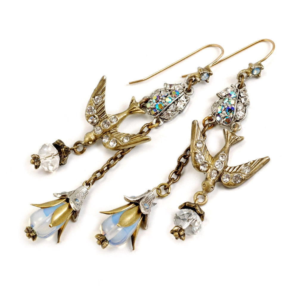 Opal Spirit Bird Earrings E1210