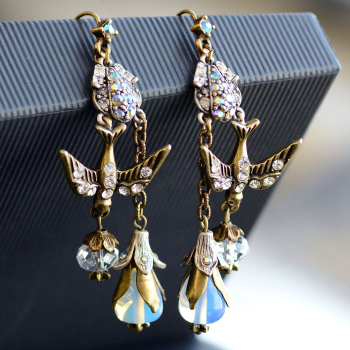Opal Spirit Bird Earrings E1210 - Sweet Romance Wholesale