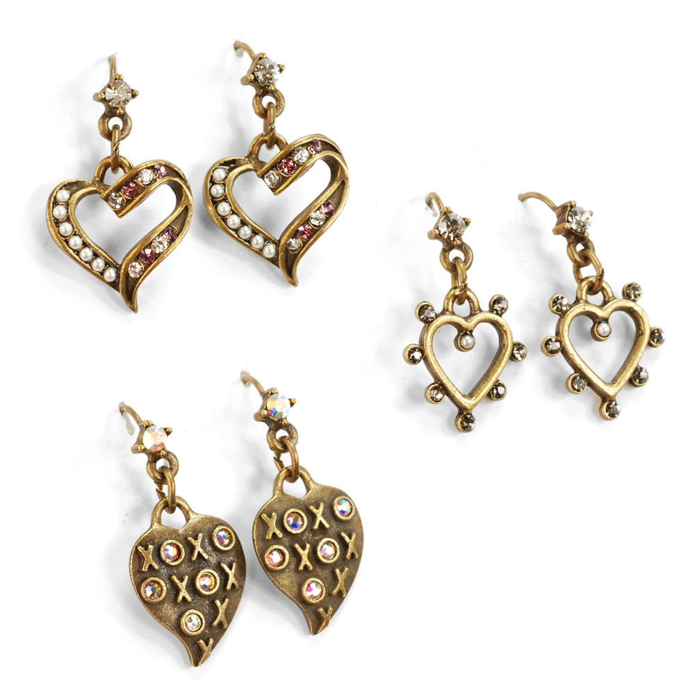 I Give You My Heart Earrings E1214 - Sweet Romance Wholesale