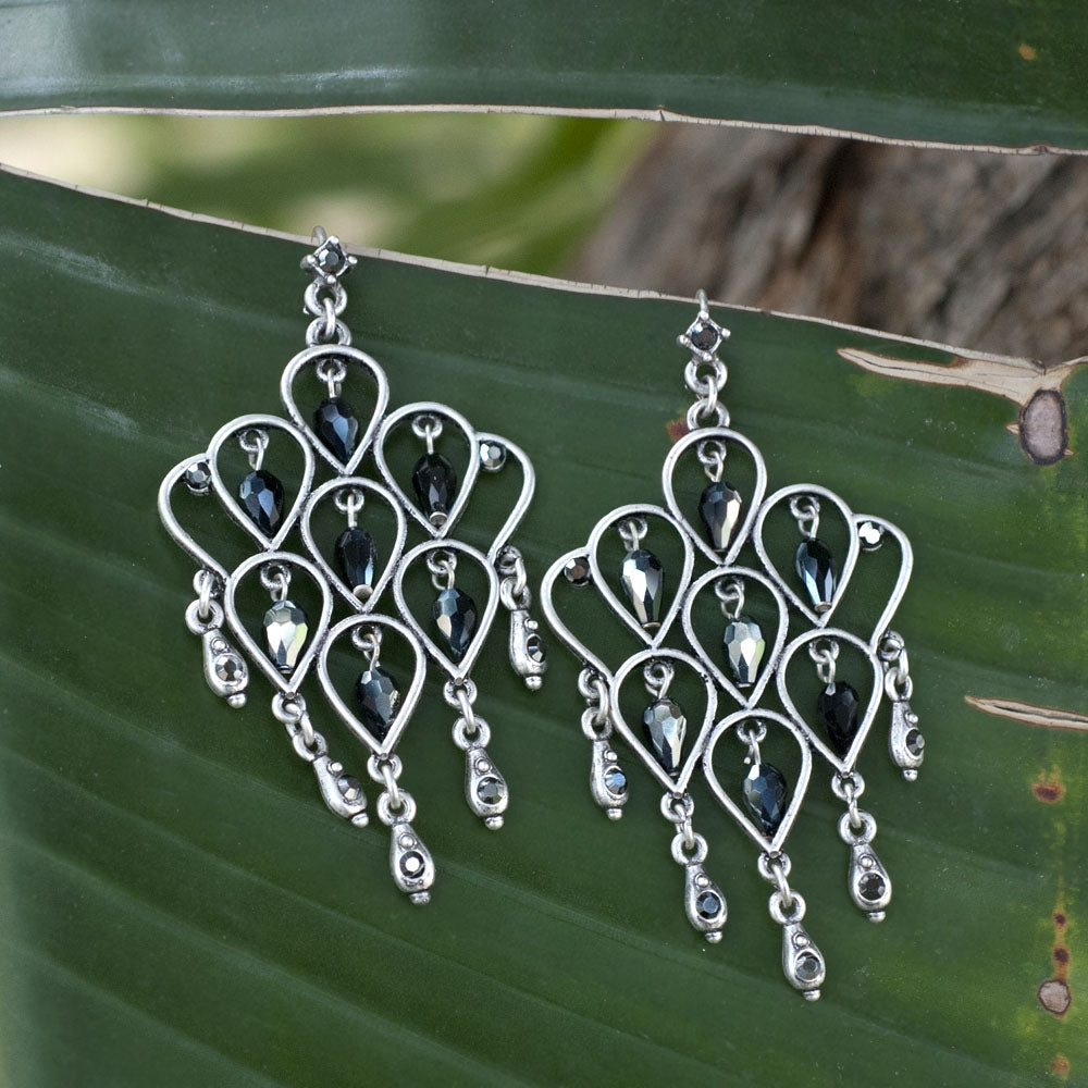 Retro Trellis Earrings E1221 - Sweet Romance Wholesale