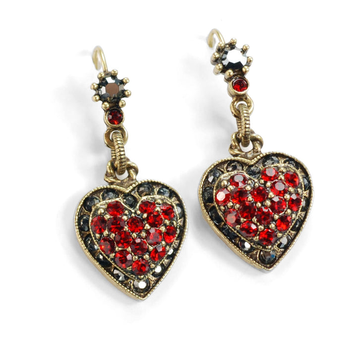 Crystal Heart Earrings E1227