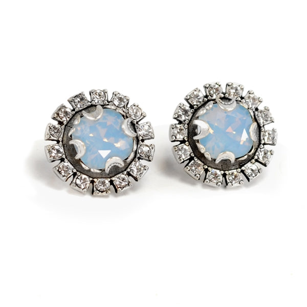 Crystal Halo Earrings E1256 - Sweet Romance Wholesale