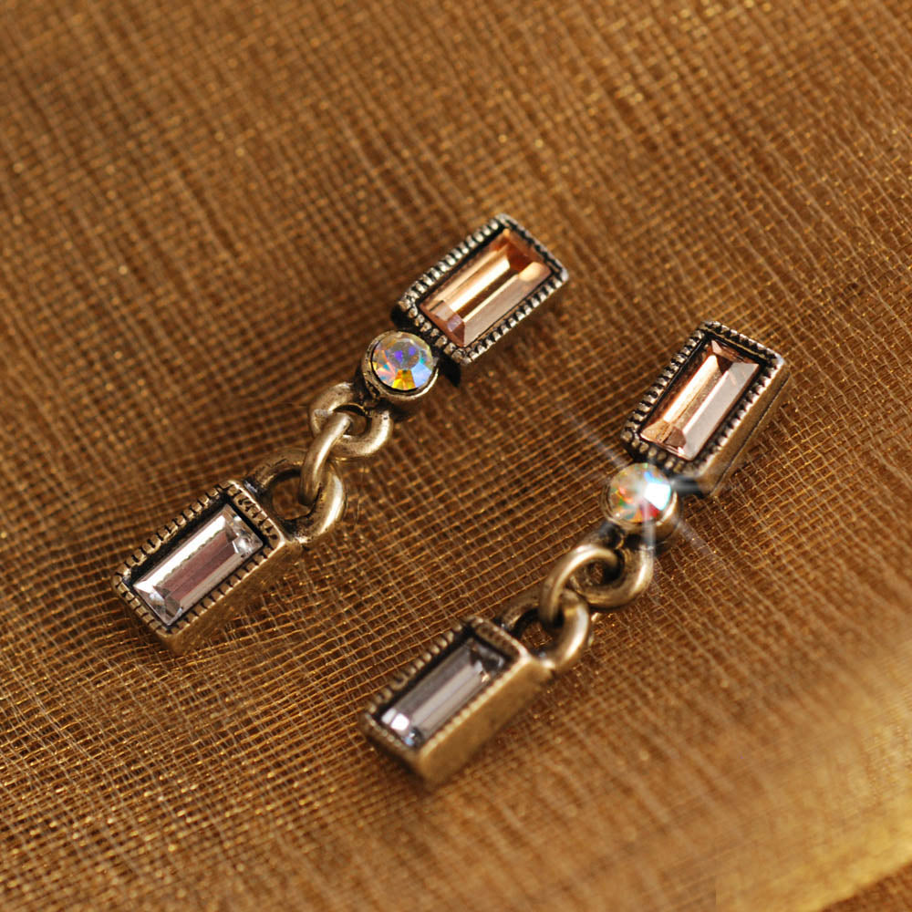 Baguette Post Earrings E1274 - Sweet Romance Wholesale