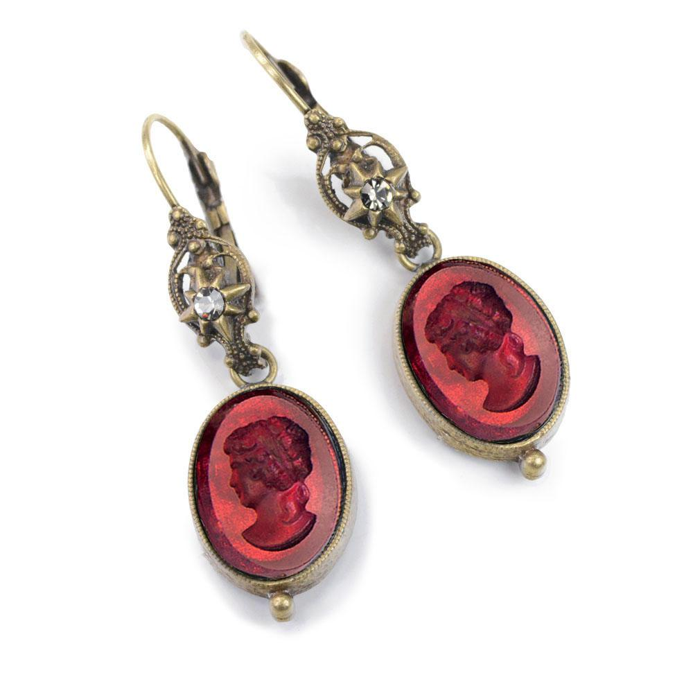Intaglio Dangle Earrings E1276 - Sweet Romance Wholesale