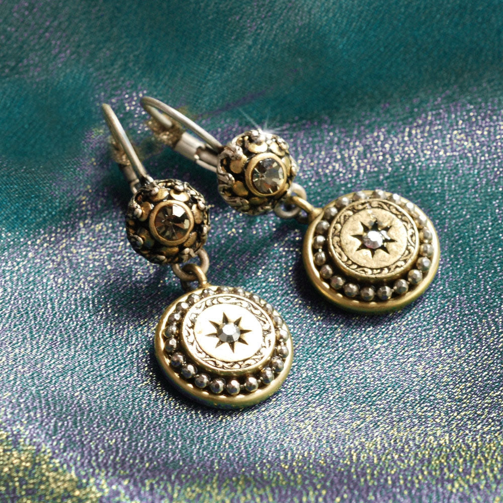 Mini Medallion Victorian Style Earrings E1290 - Sweet Romance Wholesale