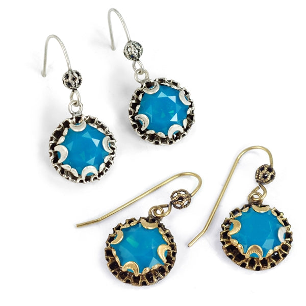 Crystal Dot Earrings E1297 - Sweet Romance Wholesale