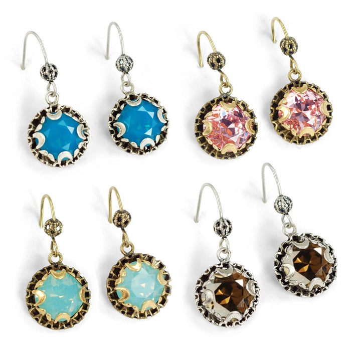Crystal Dot Earrings