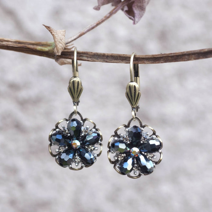 Ocean Flower Earrings E1302 - Sweet Romance Wholesale
