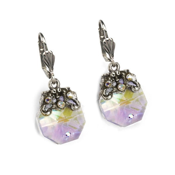 Crystal Prism Dainty Earrings E1303 - Sweet Romance Wholesale