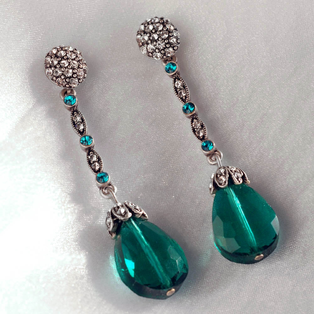 Glamour Teardrop Earrings E1312 - Sweet Romance Wholesale