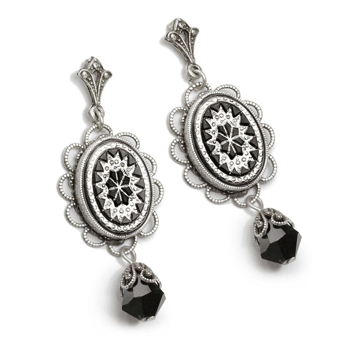 Vintage Starburst Oval Earrings - Sweet Romance Wholesale