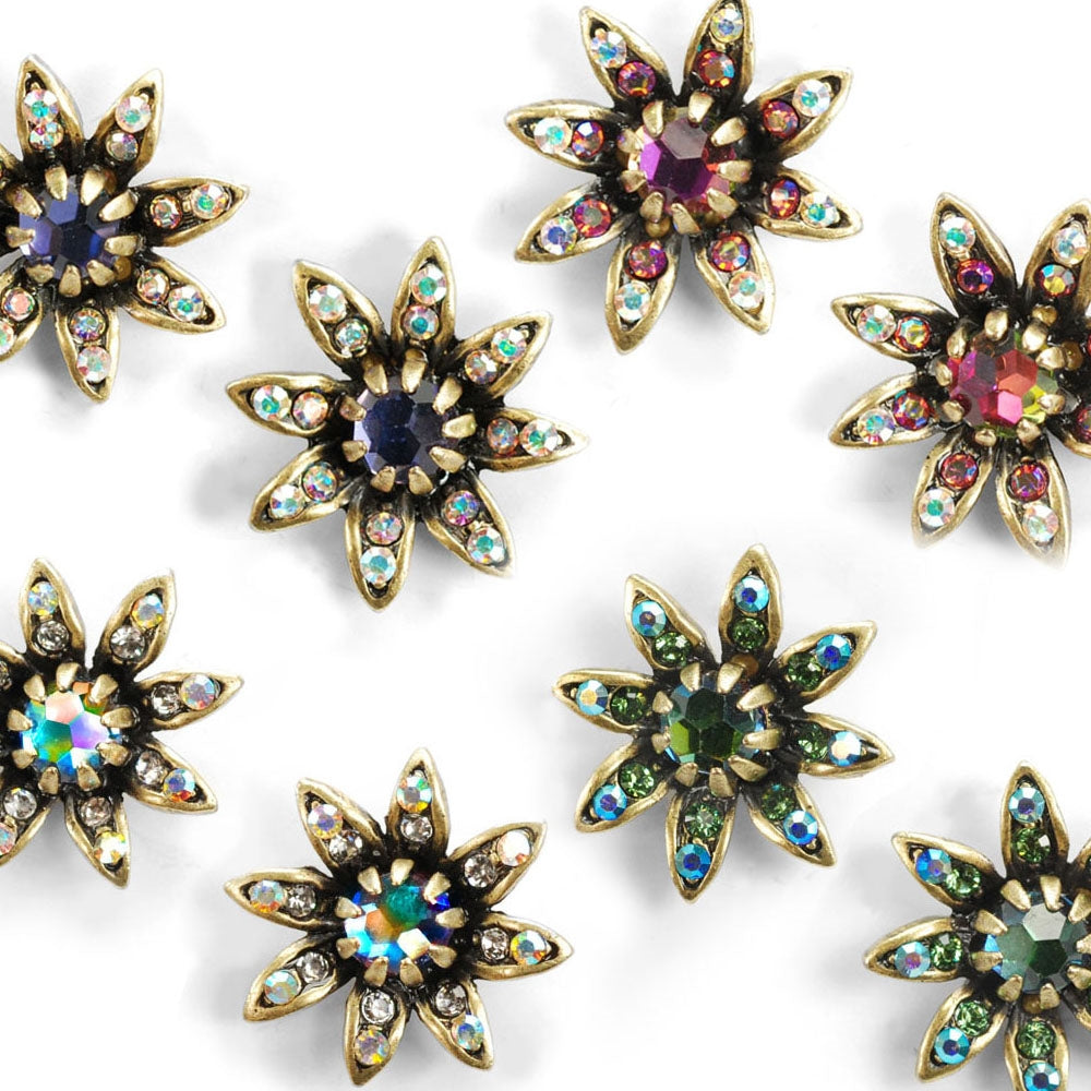 Night Flower Stud Earrings - Sweet Romance Wholesale