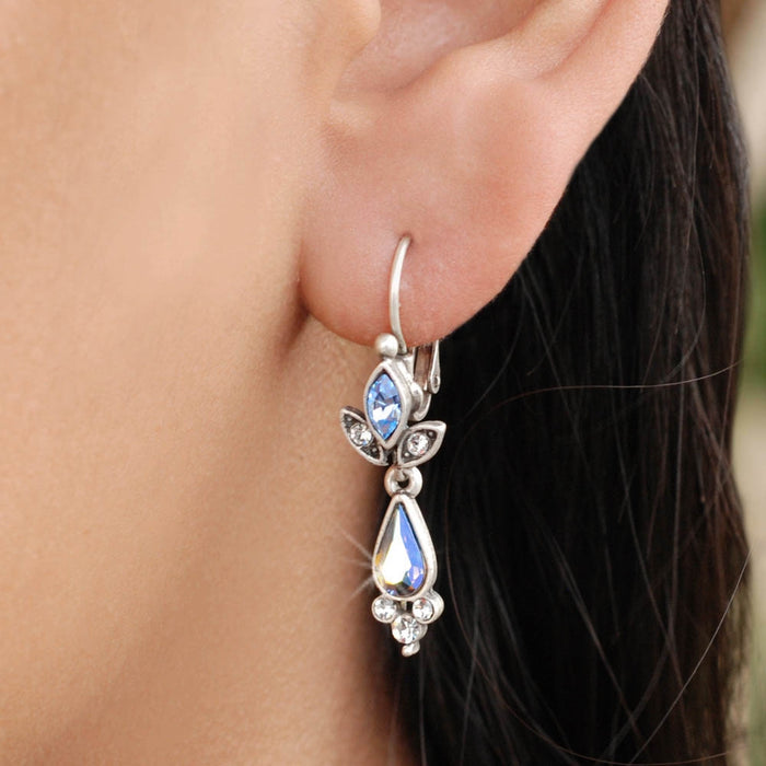 Starlight Crystal Dangle Earrings E1320 - Sweet Romance Wholesale