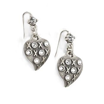 XO Heart Earrings E1326 - Sweet Romance Wholesale