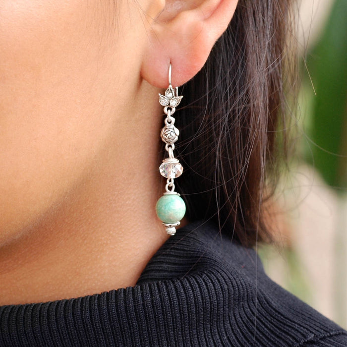 Aventurine Bead Earrings