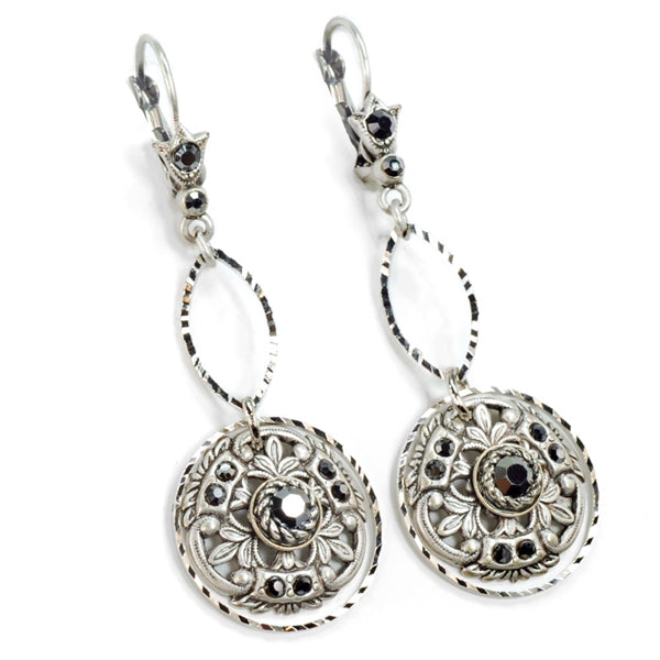 Window to the Soul Vintage Medallion Earrings E1338 - Sweet Romance Wholesale