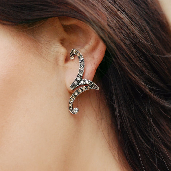 Climbing Zig Zag Earrings E1347 - Sweet Romance Wholesale
