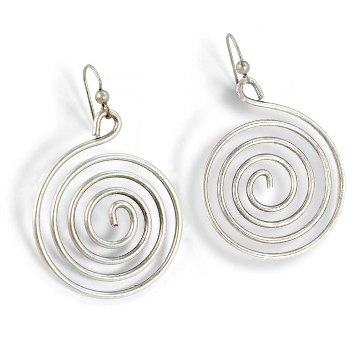 1970s Spiral of Love Earrings E1363 - Sweet Romance Wholesale