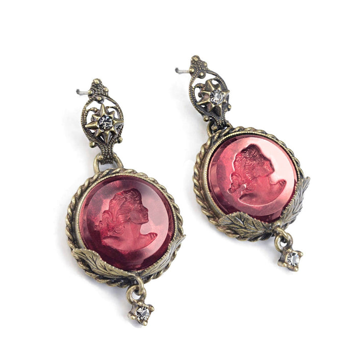 Delphine Round Intaglio Earrings - Sweet Romance Wholesale