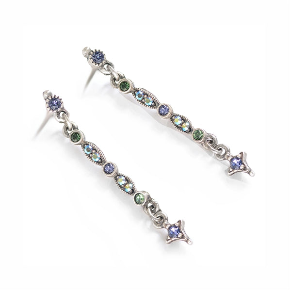 Thin Crystal Bar Earrings - Sweet Romance Wholesale