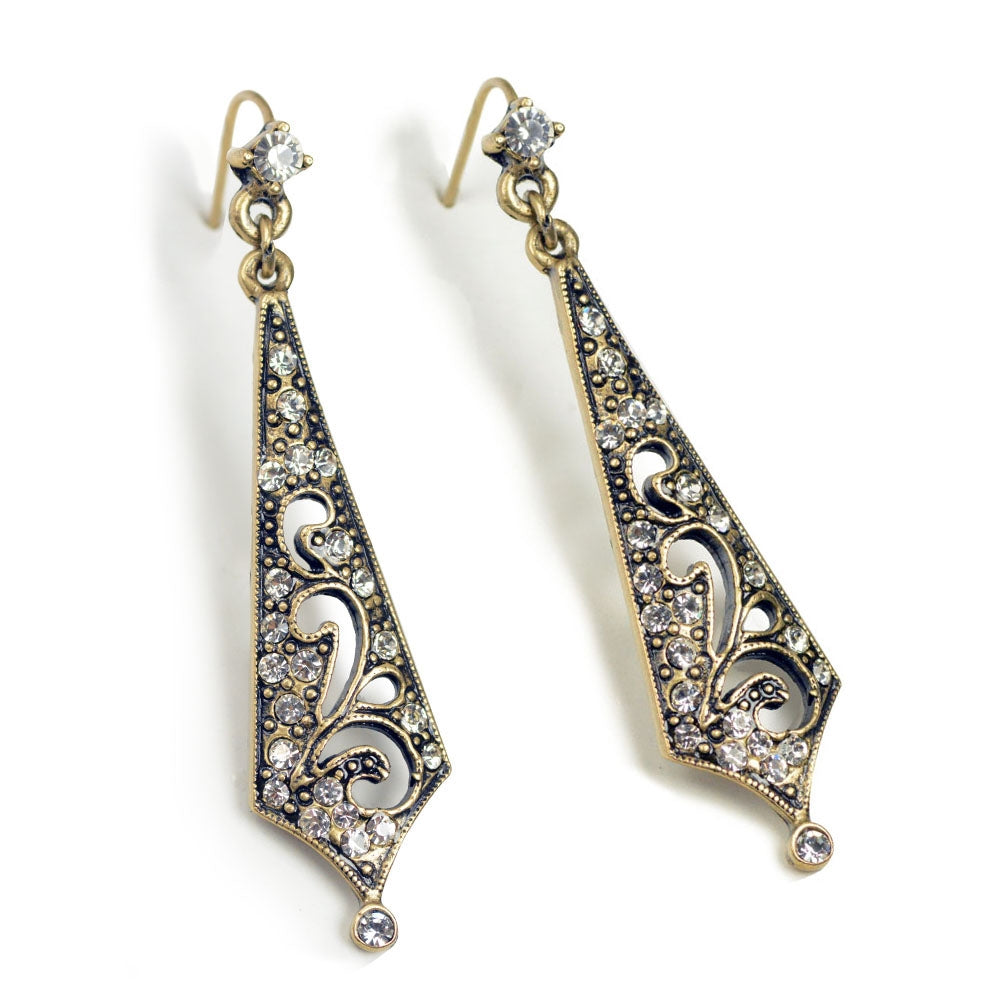 Art Deco Vintage Taper Earrings E139