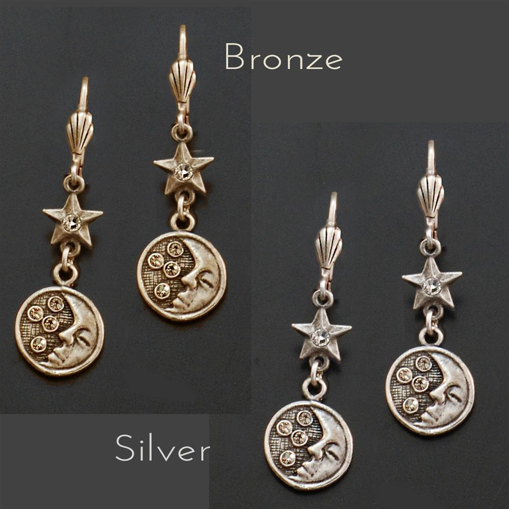 Moon & Stars Earrings E1398 - Sweet Romance Wholesale