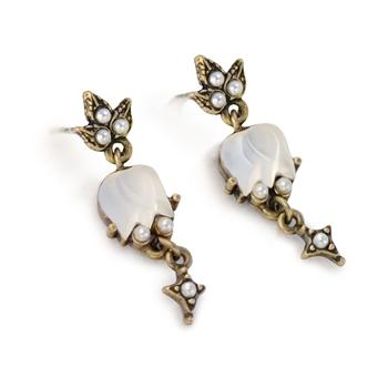 Satin Tulips Earrings - Sweet Romance Wholesale