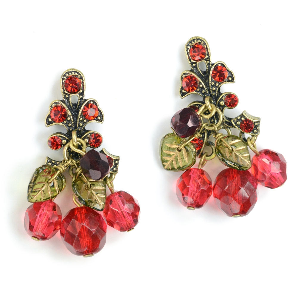 Cherries Jubilee Earrings E188 - Sweet Romance Wholesale
